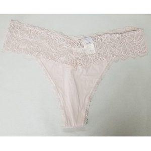 auden Soft Petal Pink Micro Thong Lace
